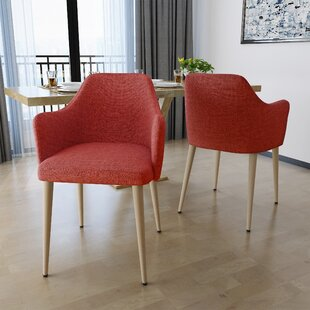 Piner Upholstered Dining Chair (Set of 2) Wrought Studio