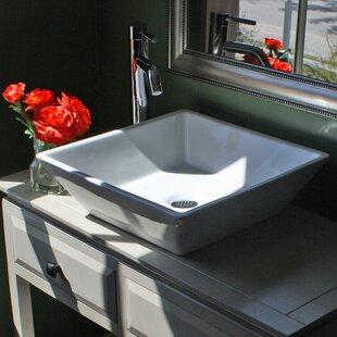 Affordable Brant Point Ceramic Square Vessel Bathroom Sink ByNantucket Sinks