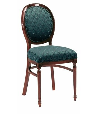 Upholstered Dining Chair AC Furniture Upholstery Color: Partner Black, Frame Color: Kensington Maple