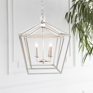 Susanna Transitional 4-Light Lantern Chan..
