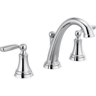 Delta Woodhurst Widespread Bathroom Faucet with Drain Assembly