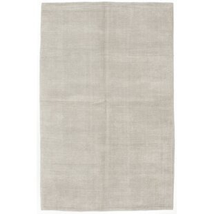 76ee7801fda1 One-of-a-Kind Ivanna Hand-Knotted Silk Light Gray Area Rug