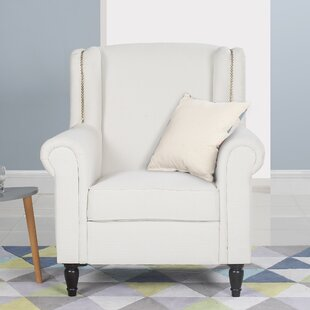 Buy clear Riverside Wingback Chair by Charlton Home Reviews (2019) & Buyer's Guide