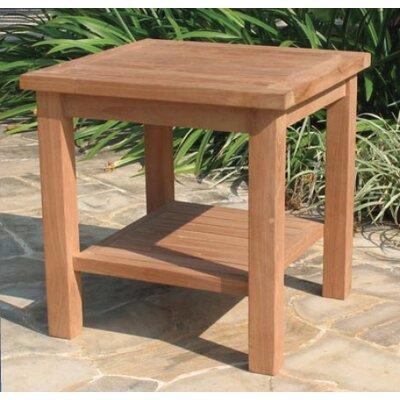 Gasaway Teak Side Table by Highland Dunes Amazing