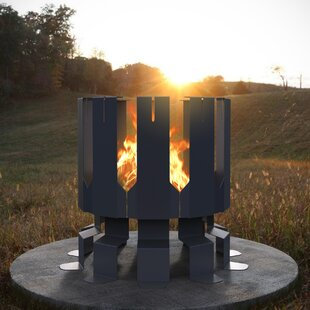 Decorpro Ion Steel Wood Fire Pit