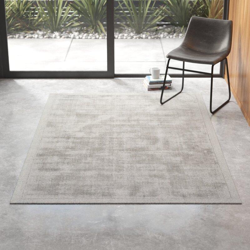Allmodern Marcus Abstract Handmade Tufted Light Gray Area Rug Reviews Wayfair