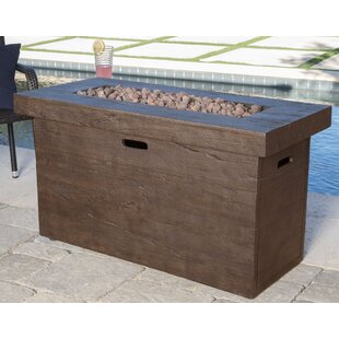 Freeport Park Ralph Polyresin Propane Fire Pit Table