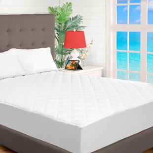 Gettys Quilted Fitted Down Alternative Mattress Pad