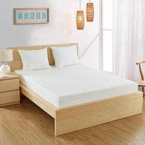 Fitted Hypoallergenic and Waterproof Mattress Protector by Alwyn Home