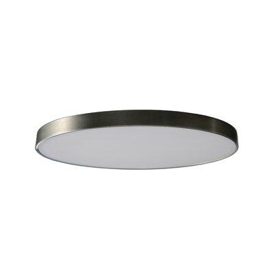 "Anchor 1 - Light Statement Circle LED Flush Mount Orren Ellis Fixture Finish: Nickel, Size: 0.77"""" H x 4.7"""" W x 4.7"""" D -  DBCE47A756574AC18AE504659F05DB45"