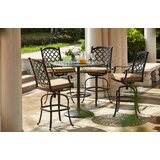 Waconia 5 Piece Bar Height Dining Set with Cushions