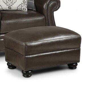Mariela Leather Ottoman by Darby Home Co