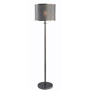 Gray floor lamps youll love wayfair kiuchi 58 floor lamp aloadofball Gallery