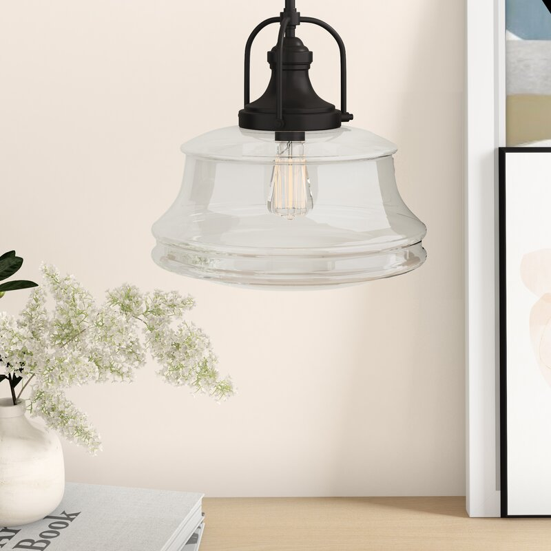 Valois 1 Light Schoolhouse Pendant