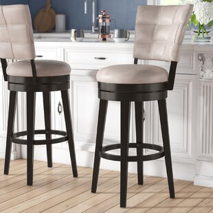 Leonore 30 Swivel Bar Stool Red Barrel Studio