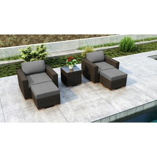 Glen Ellyn 5 Piece Conversation Set with Sunbrella Cushion