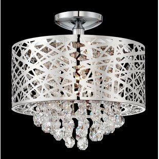 Willa Arlo Interiors Devonne 4-Light Semi Flush Mount