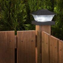 6 Pack Fencing Top Outdoor Garden Deck Brown Wood Flat Fancy Post Cap 6x6