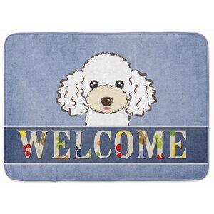 Poodle Welcome Memory Foam Bath Rug