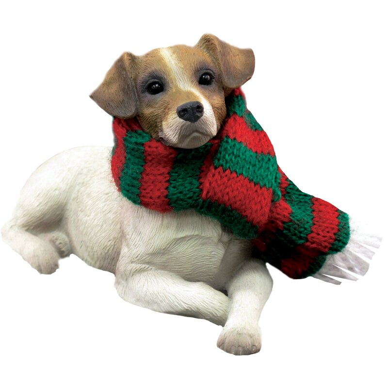 Lying Jack Russell Terrier Christmas Ornament - Sandicast Lying Jack Russell Terrier Christmas Ornament & Reviews