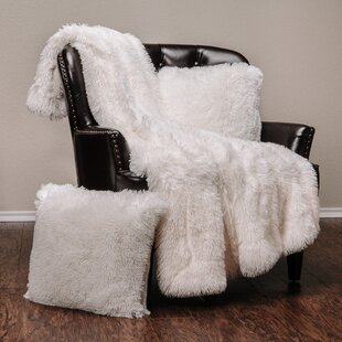 Cora Chick Fuzzy Faux Fur Throw