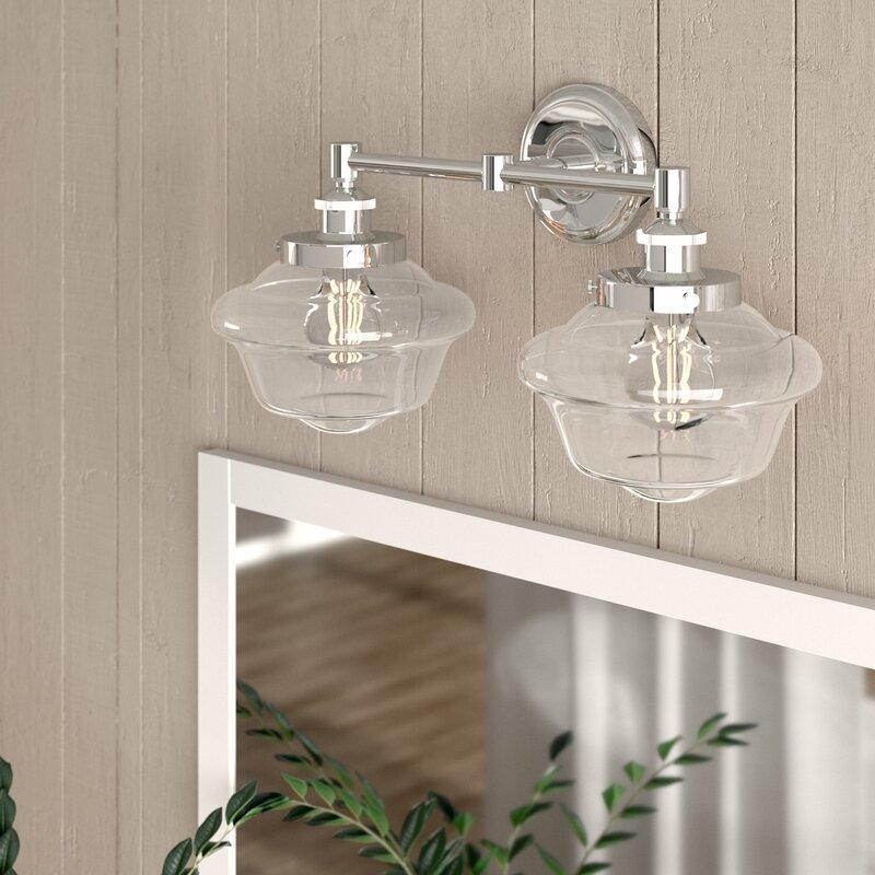 Laurel Foundry Modern Farmhouse Hildred 2 Light Dimmable Vanity Light Reviews Wayfair