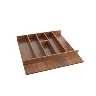 Short Walnut Cabinet 2 H x 21 W x 22 D Drawer Organizer By Rev-A-Shelf