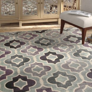 Affordable Saint-Michel Gray/Purple Area Rug By Bungalow Rose