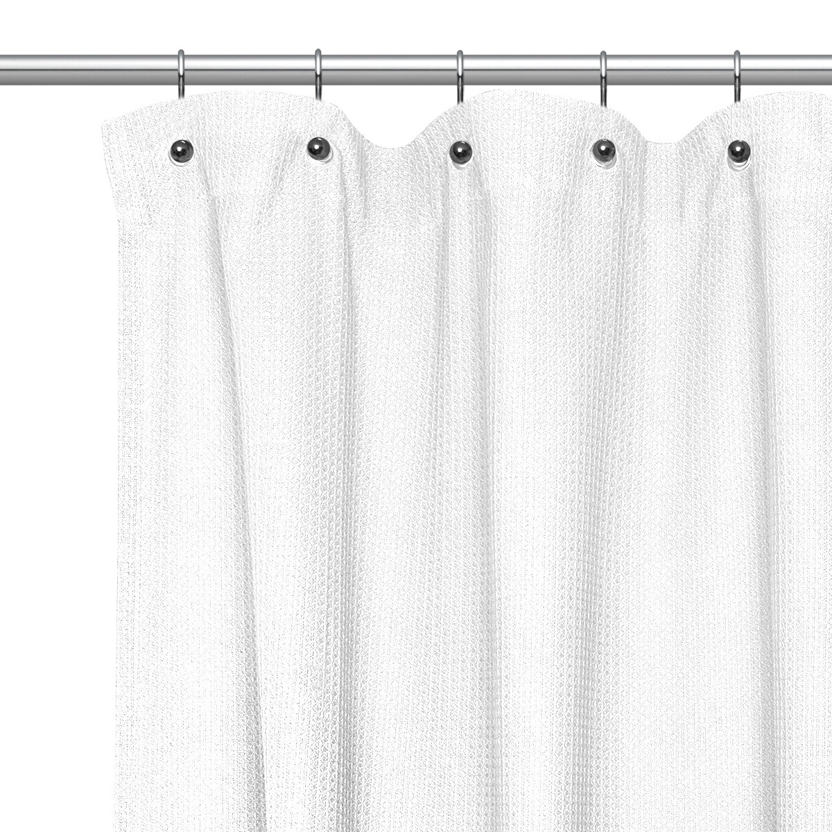 Sweet Home Collection Waffle Weave Cotton Shower Curtain Reviews