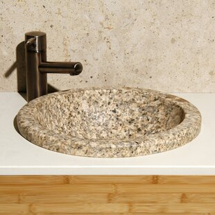 Allstone Group Stone Circular Drop-In Bathroom Sink