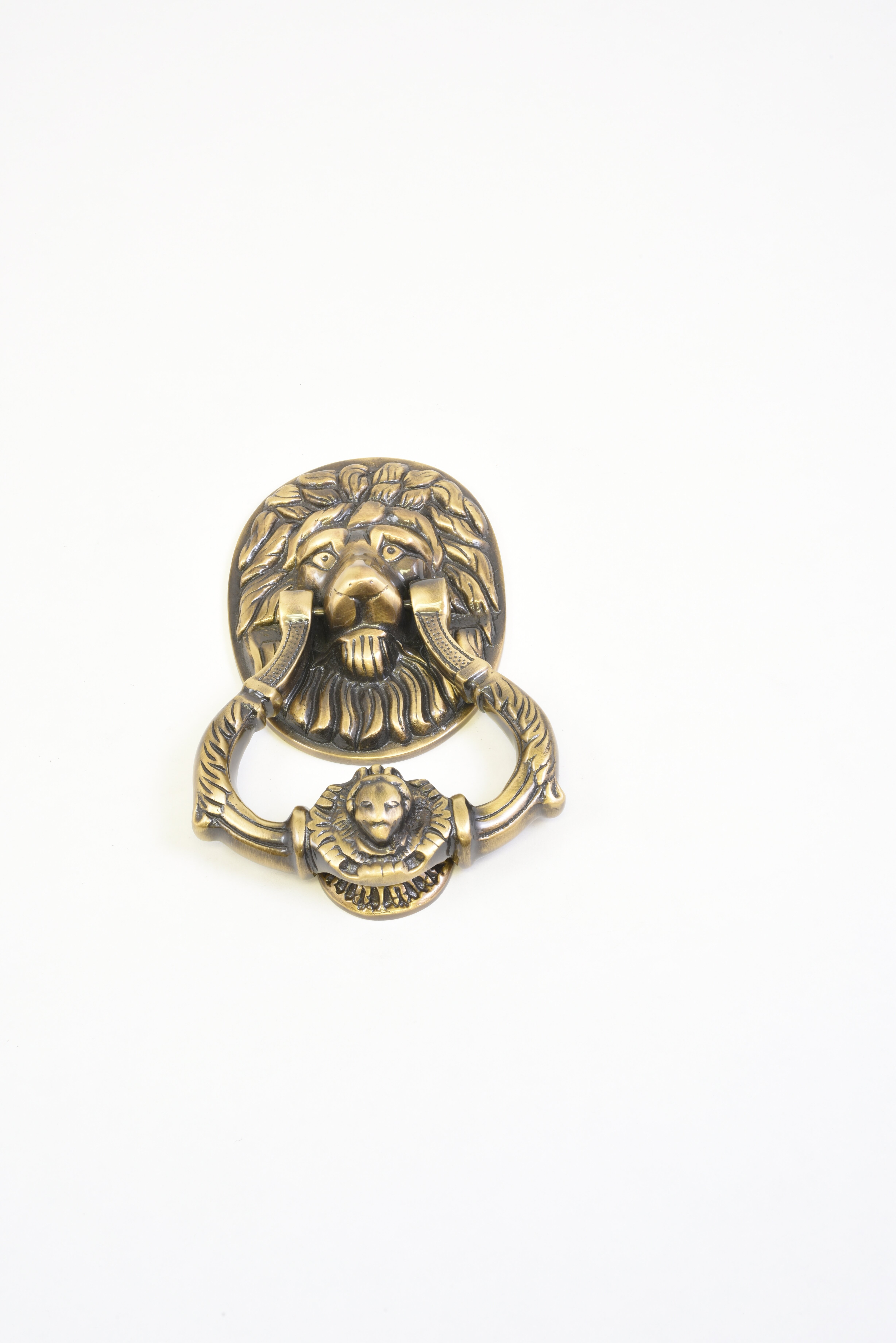 Polished Brass Casa Hardware Small Brass Lion Door Knocker