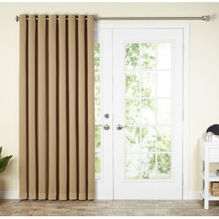 Wayfair Basics Solid Blackout Grommet Single Patio Curtain Panel by Wayfair Basics™