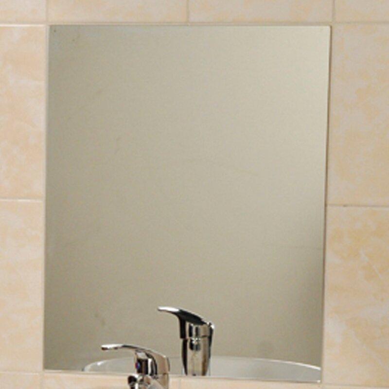 Evideco Mirrorfina Adhesive Rectangular Decorative Bathroom Wall