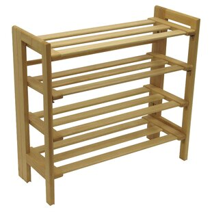 Basics 4-Tier 12 Pair Shoe Rack Winsome