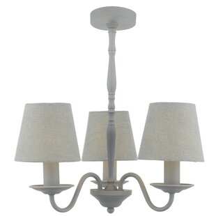 Grey chandeliers wayfair joanna 3 light candle style chandelier aloadofball Image collections