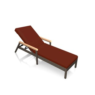 Hodge Reclining Chaise Lounge with Cushion