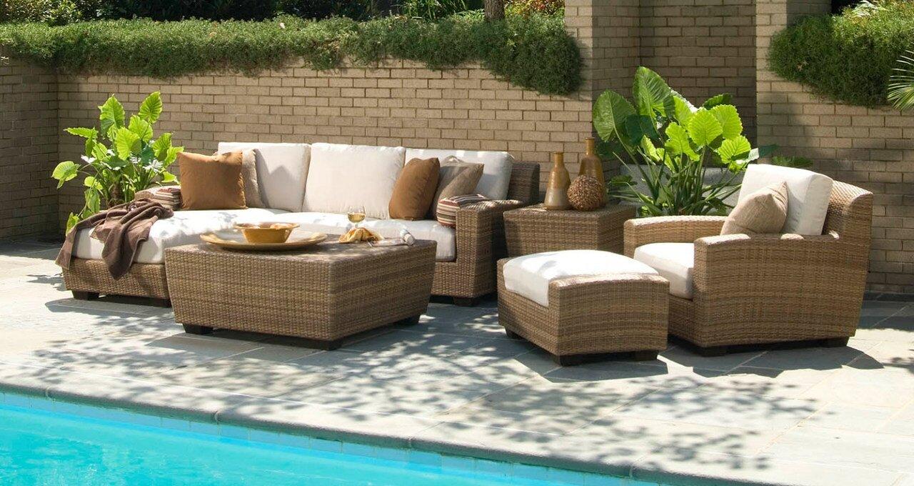 Woodard Saddleback Deep Seating Group with Cushions