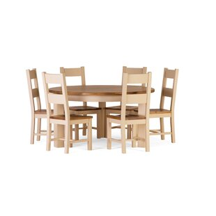 Aaron Dining Set with 6 Chairs by Brick & Barrow