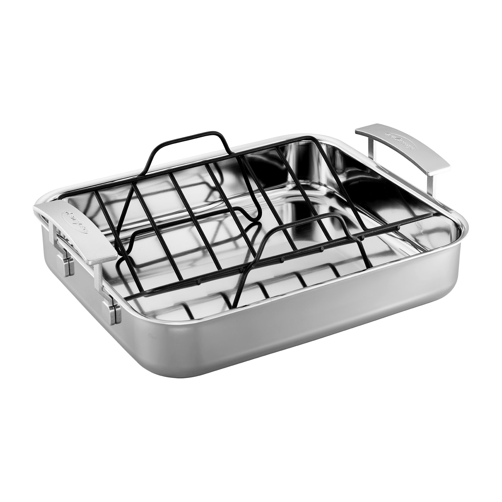 Non Stick Tray Chicken Poultry Roaster Baking Roasting Duck Rack Oil Fat Bowl IT