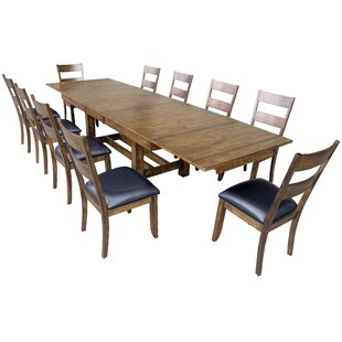 Alder 11 Piece Extendable Dining Set Loon Peak