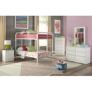 Aaron Twin over Twin Standard Bunk 5 Piece Bedroom Set by Harriet Bee