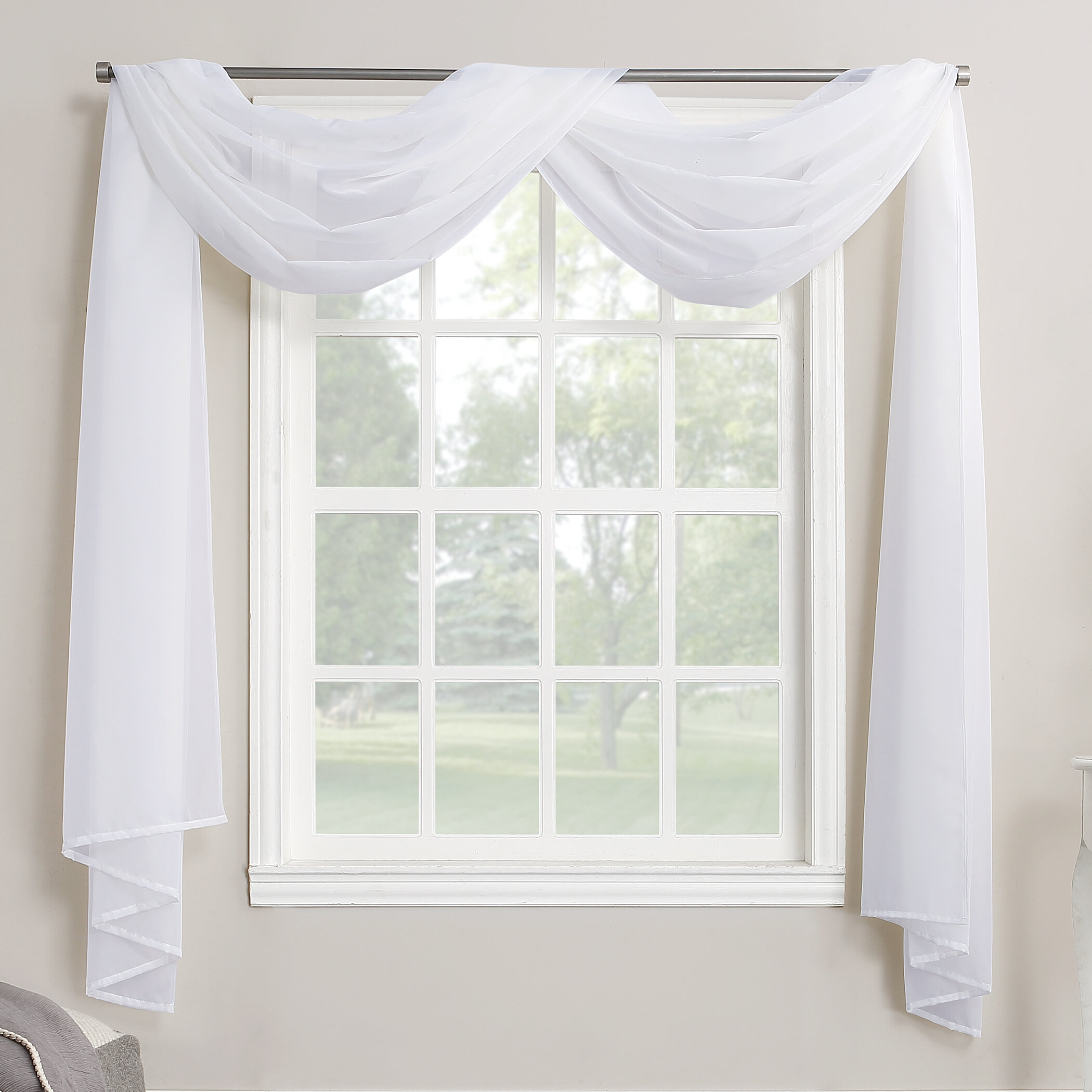 Charlton Home Emily Solid Color Sheer