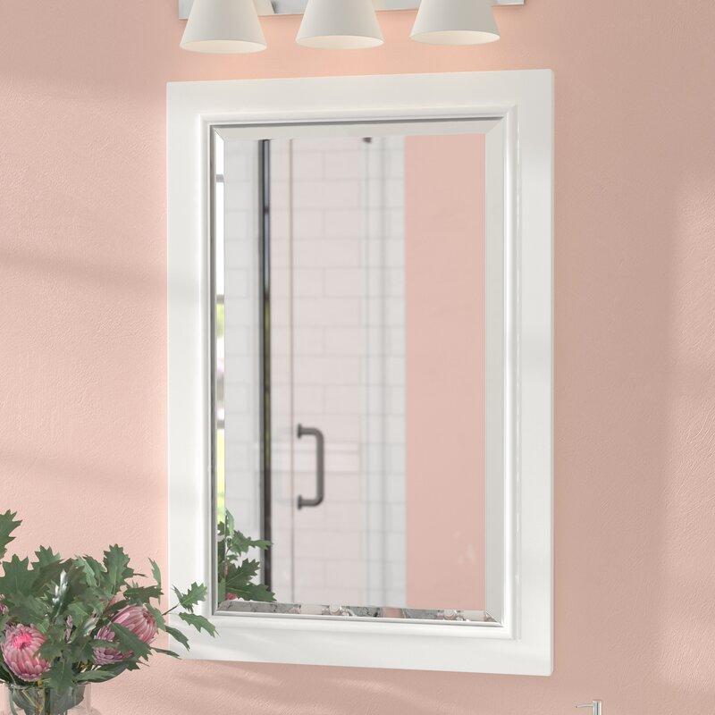 Andover Mills Rectangle Solid Wood Bathroom / Vanity Mirror ...
