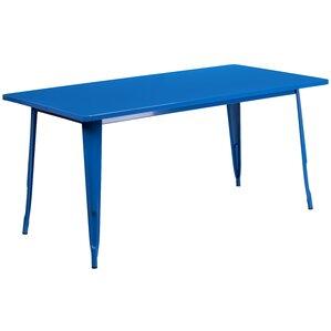 Garnet 31.5u0027u0027 X 63u0027u0027 RECTANGULAR BLACK METAL INDOOR OUTDOOR TABLE