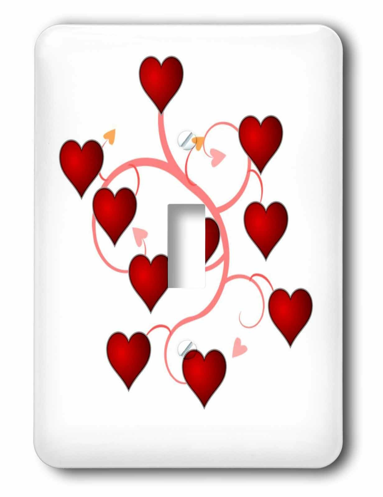3drose Growing Hearts 1 Gang Toggle Light Switch Wall Plate Wayfair
