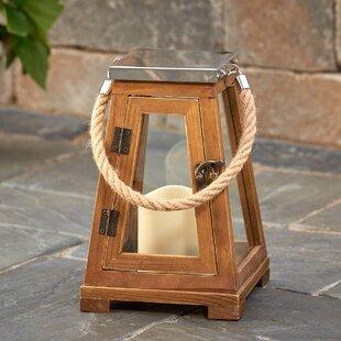 Inexpensive Newport Wood Lantern By Smart Living