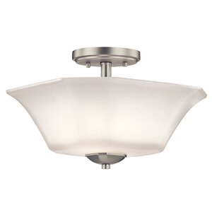 Huntington 2-Light Semi-Flush Mount