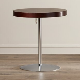 Acosta Wood Adjustable End Table by Wade Logan