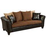 Dark Brown Microfiber Sofa | Wayfair
