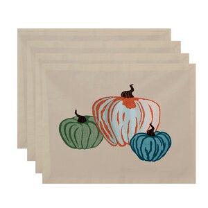 Miller Hand Towel Pumpkin Spice Geometric Print Placemat (Set of 4)